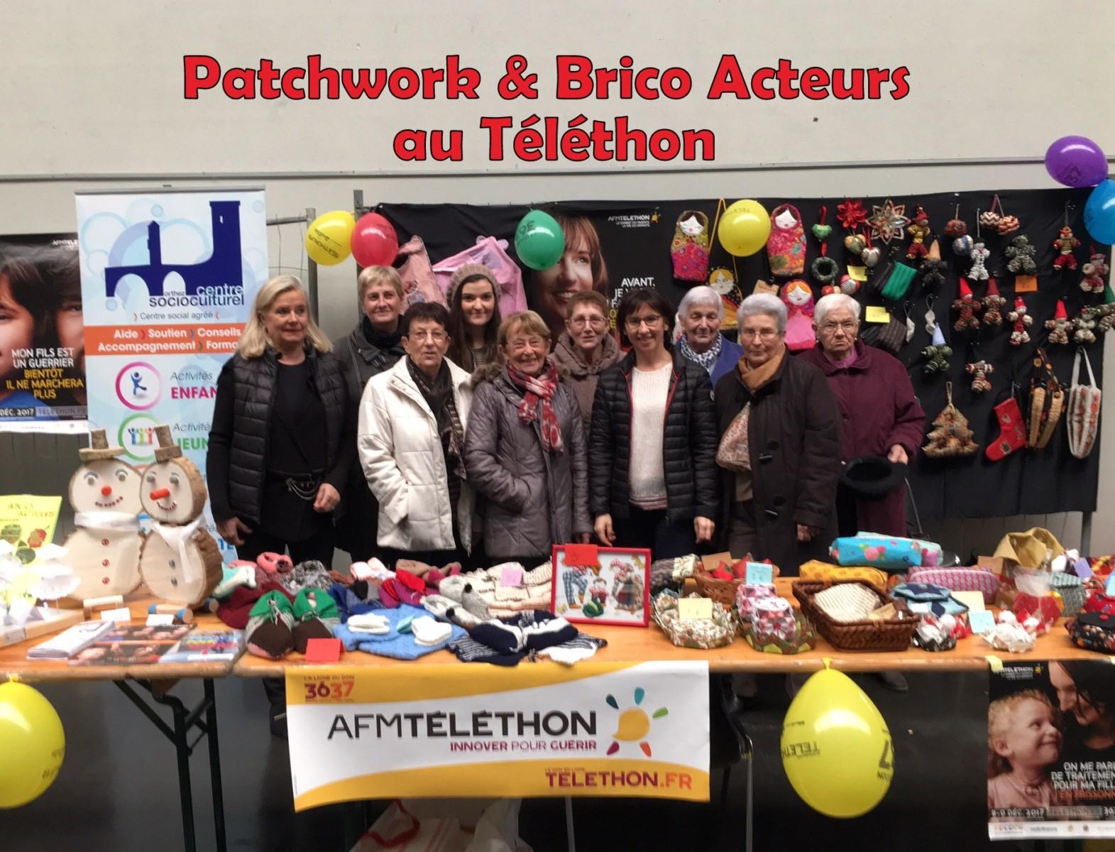 124Patchwork et Brico Acteurs Ensemble pour le Téléthon