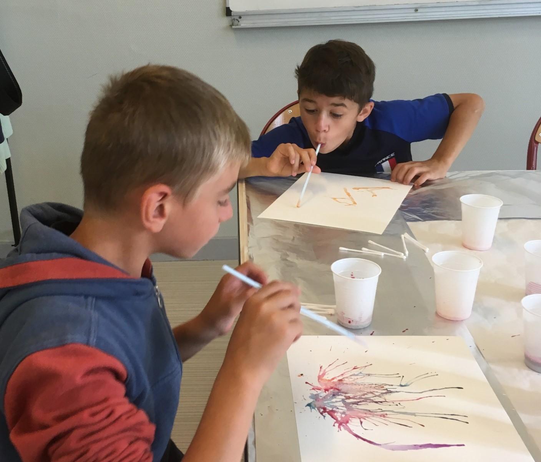 6)Peinture sur papier