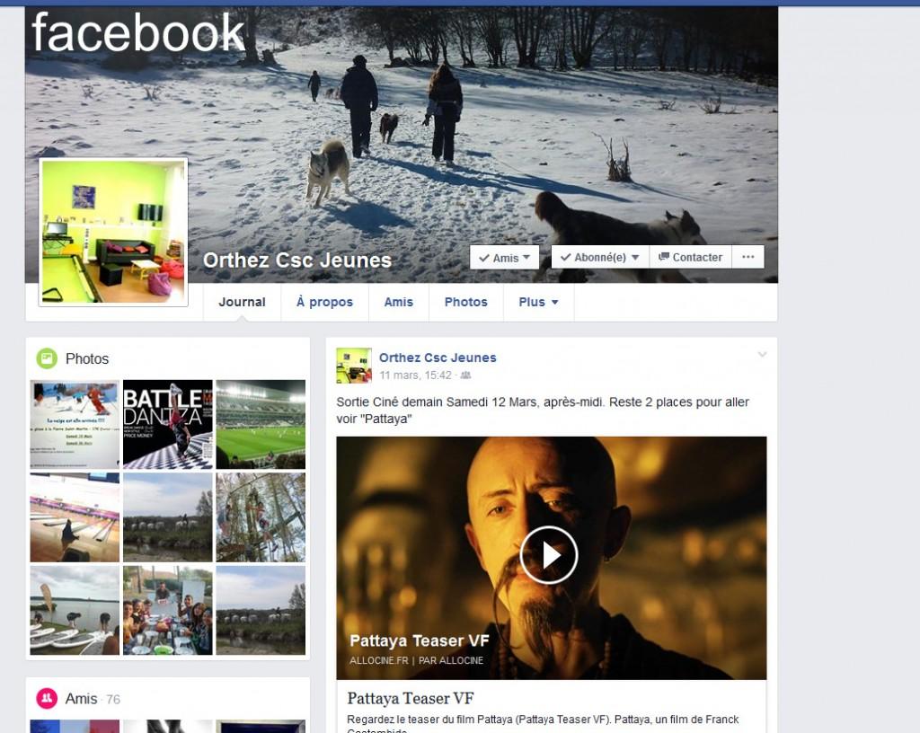 Facebook CSC Jeunes