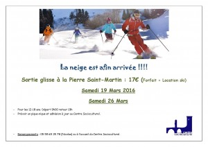 Sortie ski Jeunes 2016