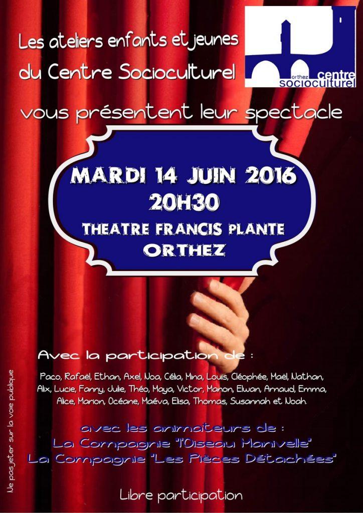 Spectacle Théâtre 2016