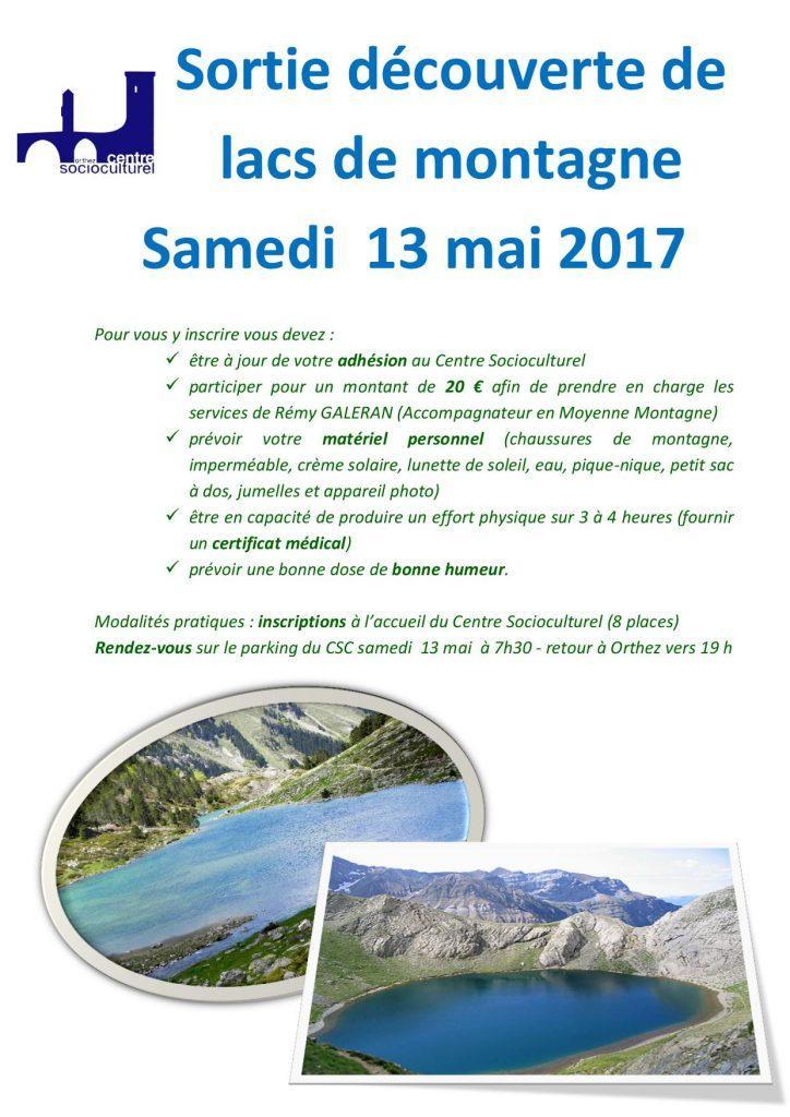 Sortie lacs montagne 13 mai 2017