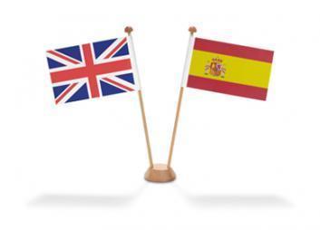 drapeaux anglais espagnol