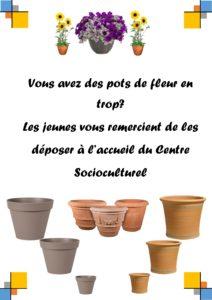 Affiche pots fleurs