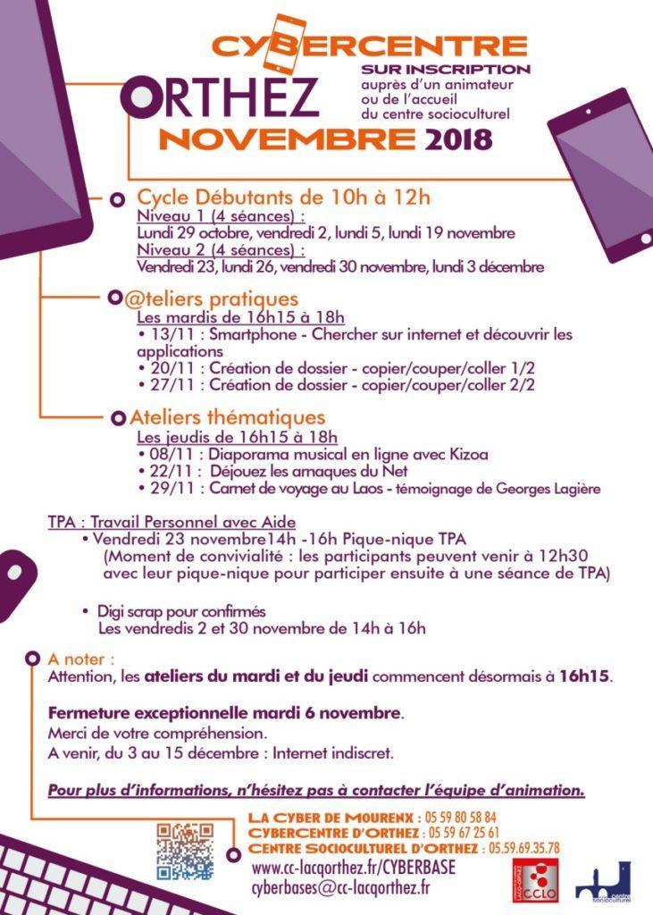 CyberCentre novembre 2018