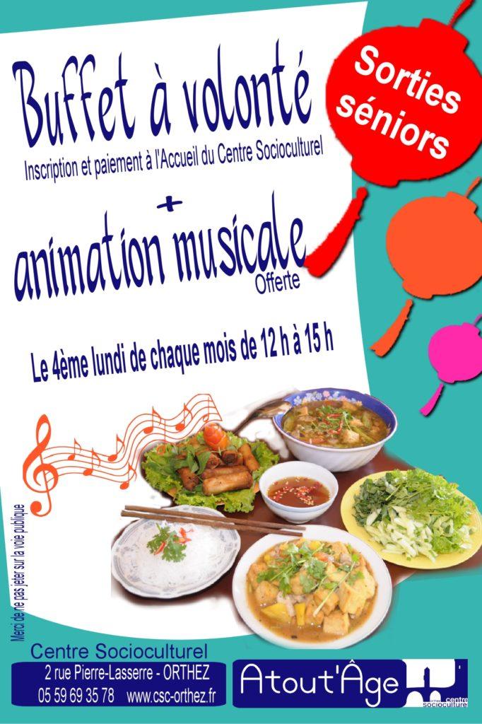 Atout'Âge Repas musical chinois