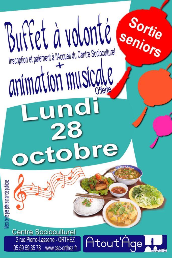 Repas musical asiatique 28 octobre