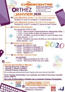 Programme CyberCentre janvier 2020