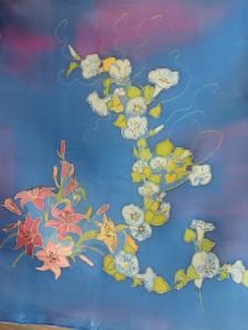 Peinture sur soie 6