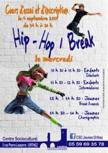Affiche Hip Hop enf jeu 2019-20