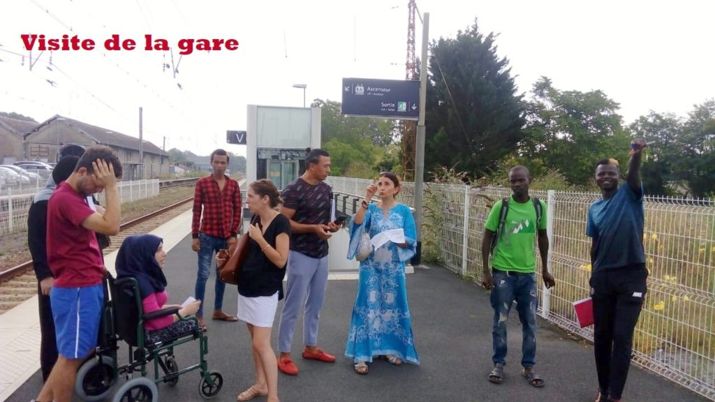 FLE visite de la gare